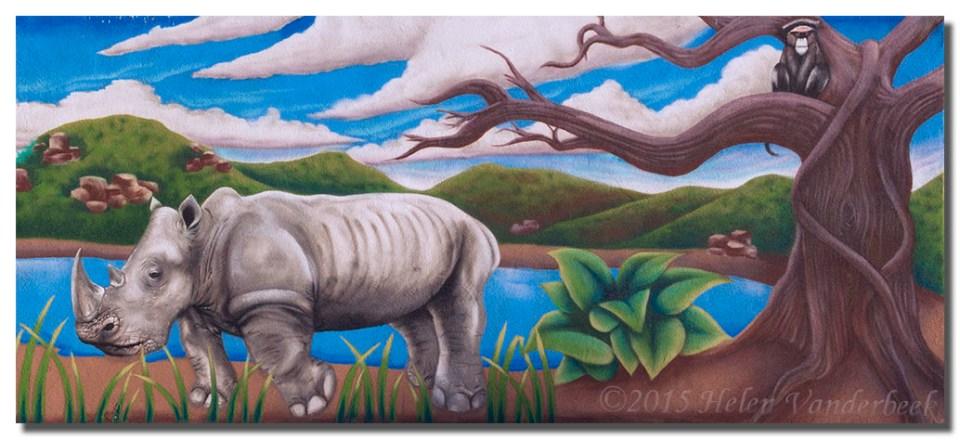 Mural at Rio Grande Zoo I