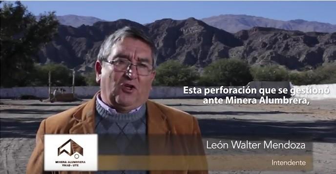 Leon Walter Mendoza. Intendente de San José, Catamarca.