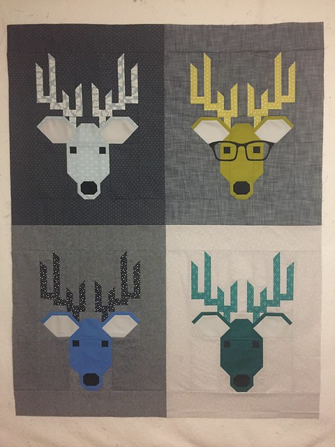 Dwight the Deer Quilt Top