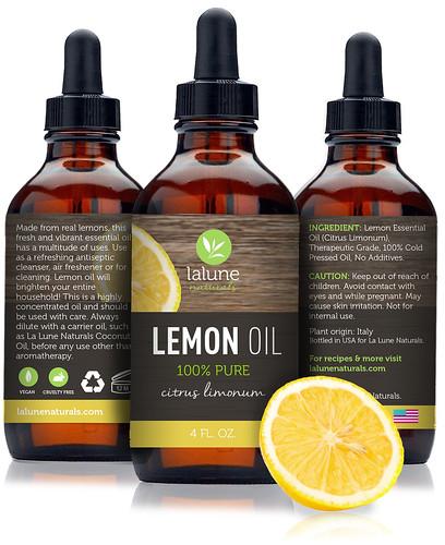lalune naturals lemon essential oil