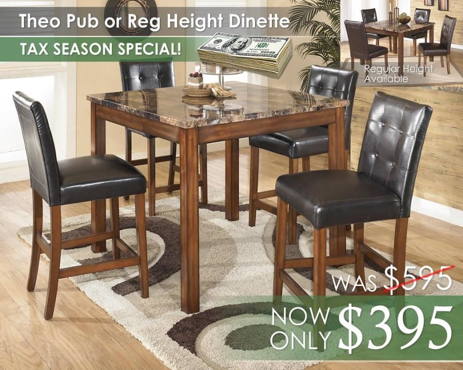 Theo Pub or Regular Height Dinette D158-225