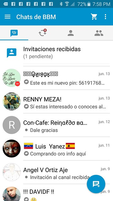 BBM Messenger Material Design