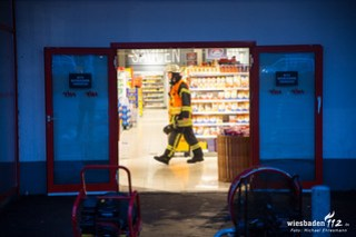 Kühlmittelaustritt in Supermarkt Idstein 03.02.17