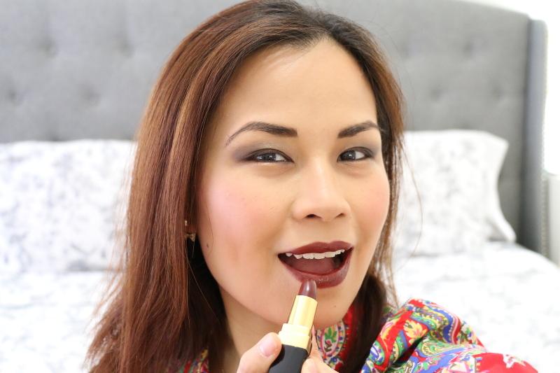 Summer-night-out-makeup-dark-bold-lipstick