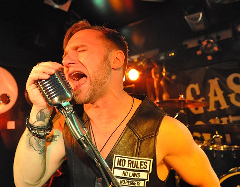 Matt Fitzsimons of Gasoline Outlaws at Diamond Rock Club, June 2015