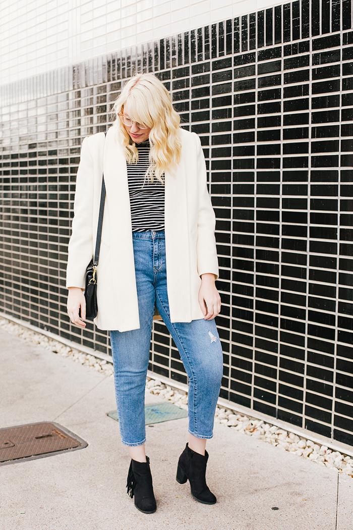austin fashion blogger vintage white coat8