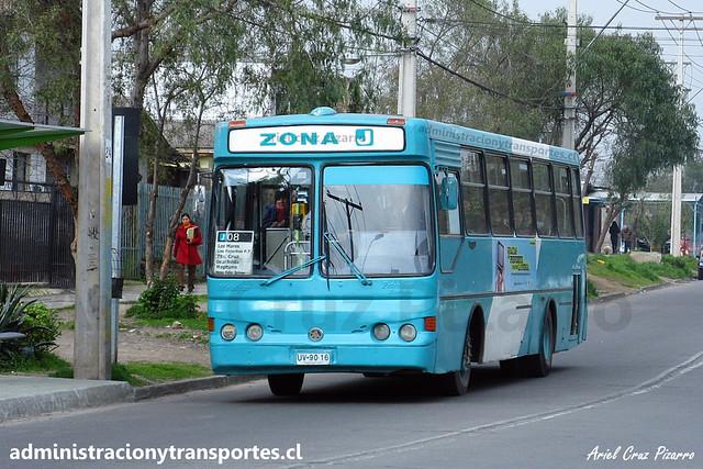 Transantiago J08 | CNM | Metalpar Petrohué 2000 - Mercedes Benz / UV9016