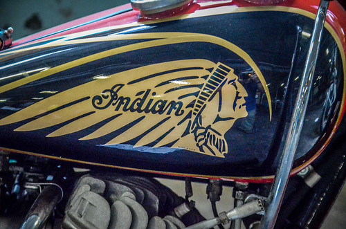 Antique Indian Motorcycle-001