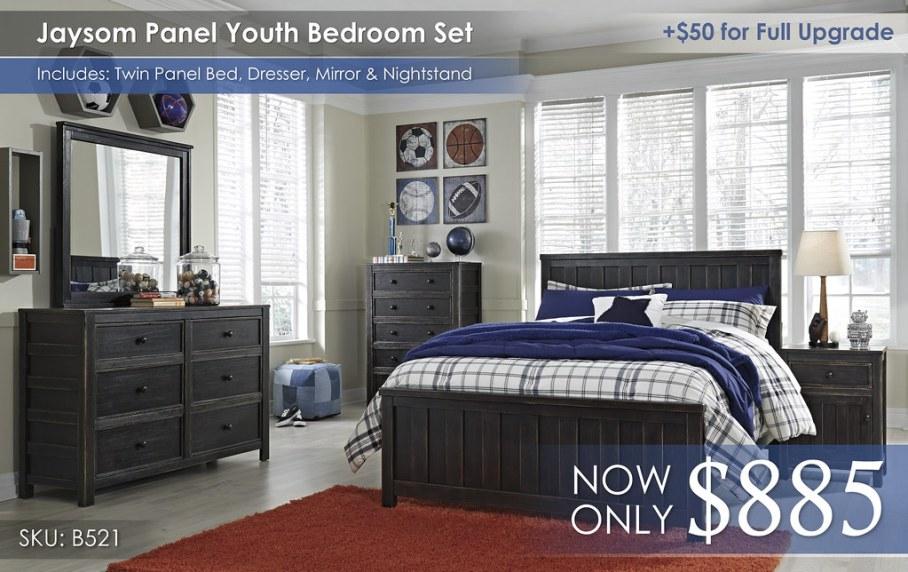 Jaysom Panel Youth Bedroom Set B521