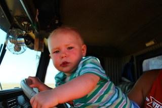 Meet Brady, Farmer Randy's cute little grandchild.
