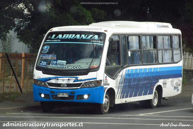 Temuco - Línea 9   Maxibus Astor - Mercedes Benz / WF5876