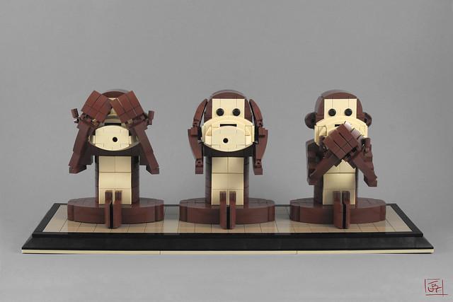 Three wise monkeys - Trois singes de la sagesse
