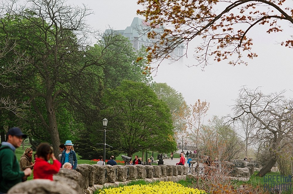 Oakes Garden Theatre Niagara Falls Proposal Photography