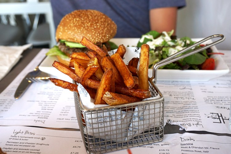 Gluten fre hand cut fries from Niche - gluten free restaurant in Angel, Islington, London