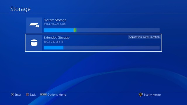 extenral hard drive support for PS4