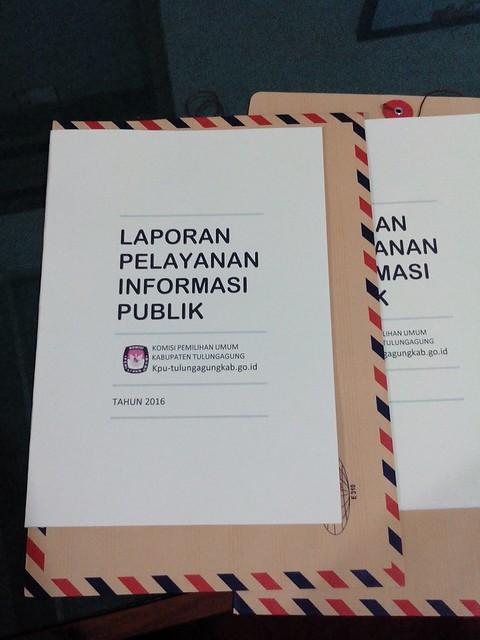 Berkas laporan PPID KPU Tulungagung telah siap dikirim