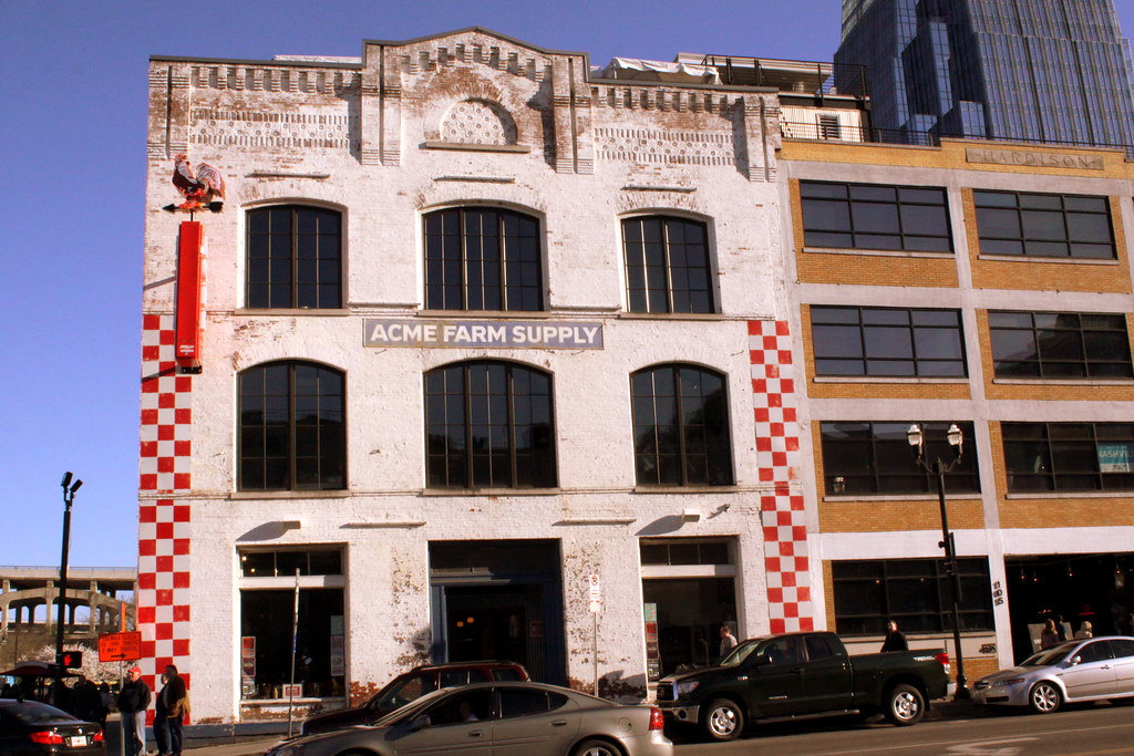 Acme Farm Supply Building Downtown Nashville Located