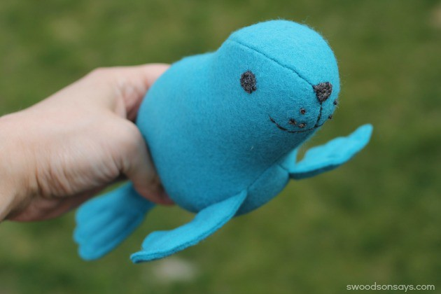 50d3846423c7 ... Stuffed Seal Sewing Pattern* and sew one for yourself. blue felt seal.  felt seal softie toy