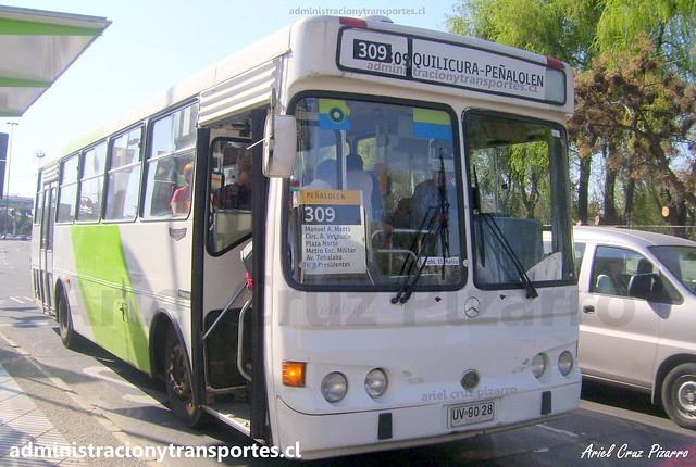 Transantiago 309 | BGS | Metalpar Petrohué 2000 - Mercedes Benz / UV9028