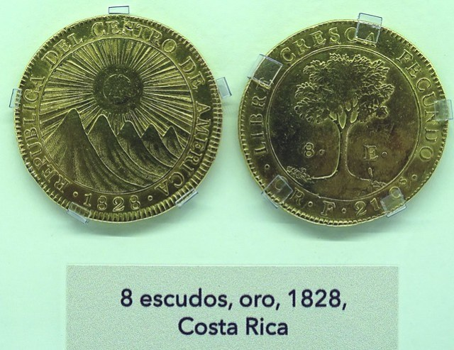 Monedas Años 1800-1849 Museo Numismática Banco Central San José de Costa Rica 39