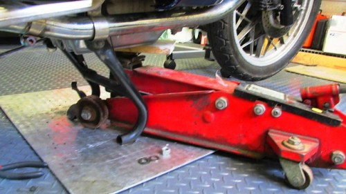 Floor Jack to Support Engine