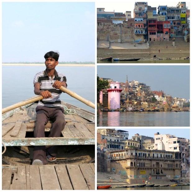 En barca por el Ganges, Varanasi