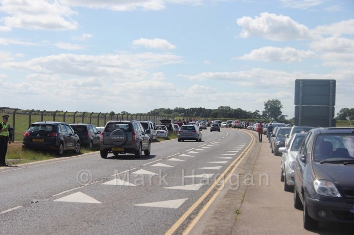 Spectators for the Avro Vulcan XH558 on the Salute to the V-Force tour  at East Midlands Airport
