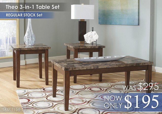 Theo 3-in-1 Table Set T158-13