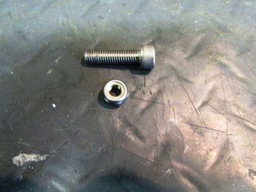 M8-1.25X30 SS Bolt and Nylock Nut for Front Instrument Bracket Mount