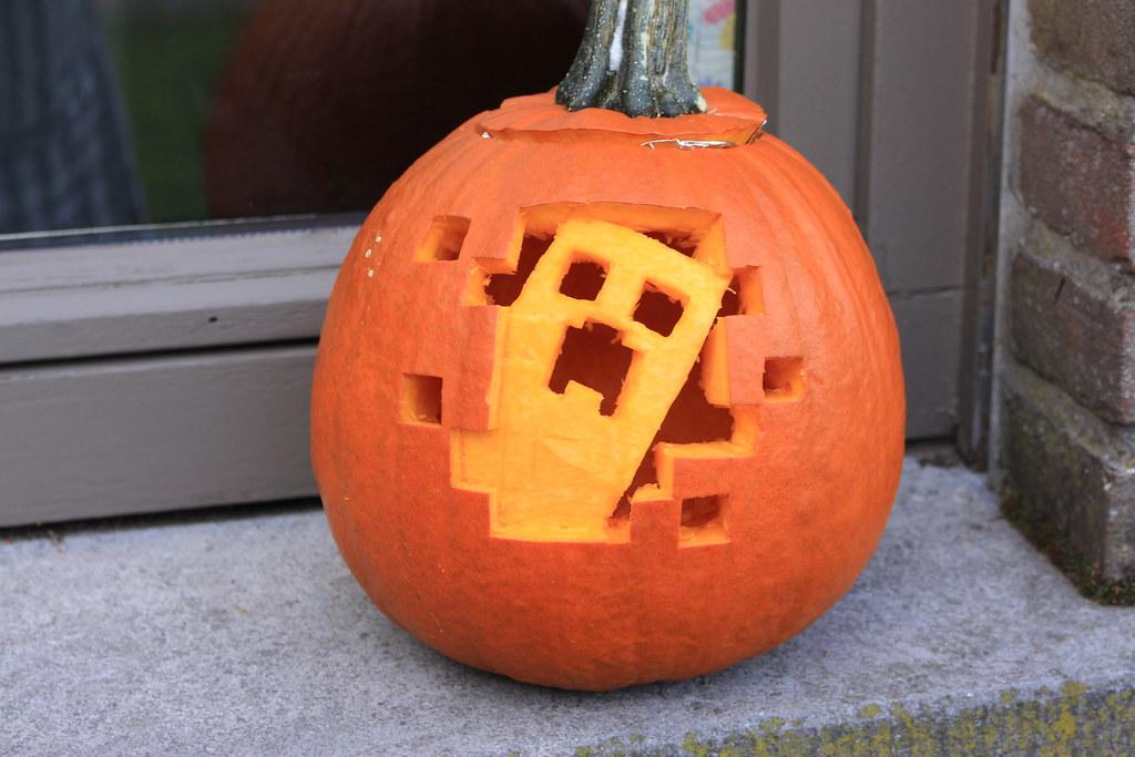 Minecraft Creeper Pumpkin Tetramesh Flickr