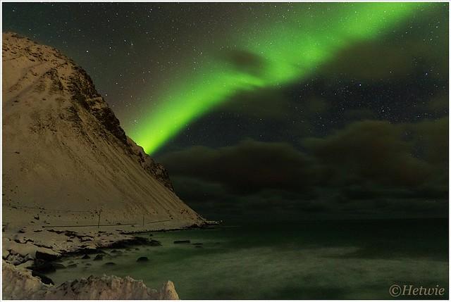 Noorderlicht op Skagsanden beach
