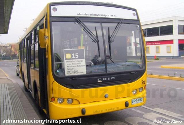 Transantiago D15 | STP Santiago | Caio Apache STD - Mercedes Benz / ZK7465