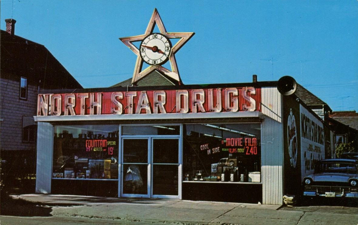 North Star Drugs - Virginia, Minnesota U.S.A. - 1950s
