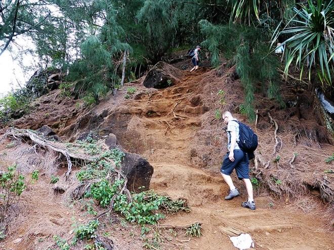 Kauai, the Garden Island of Hawaii: KalalauTrail can be quite steep