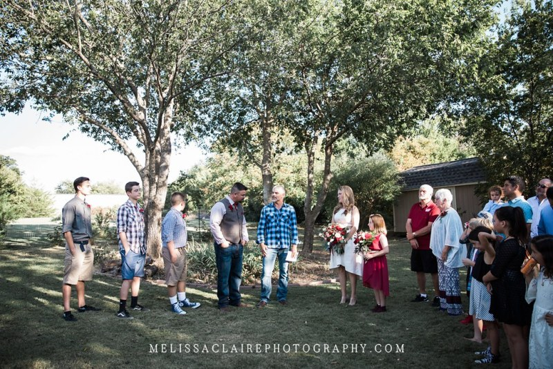 Backyard Denton Wedding