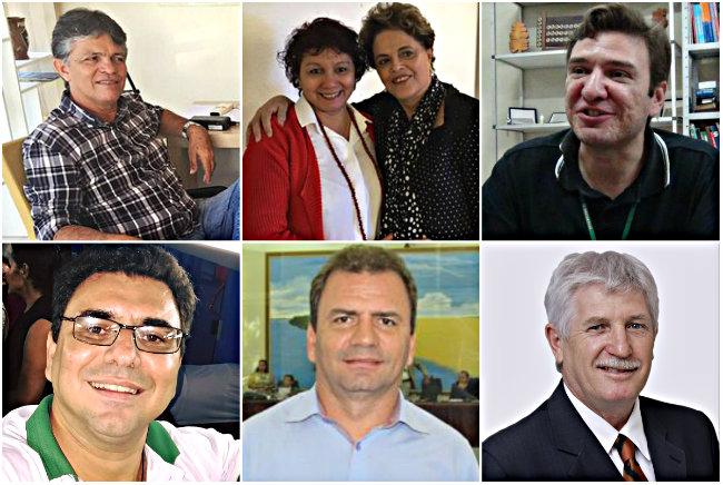 Holofotes em 6 VIPs. Henrique, Marcelo, Faleiro, Tabajara, Alaércio e Pepa