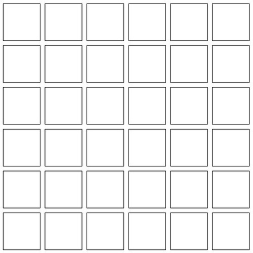 Mosaic Square Template White This Template Is For