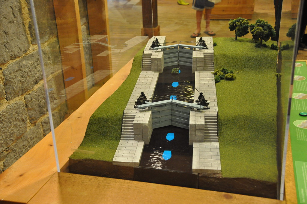 Working Model Of The Lock System On The Rideau Canal Locks