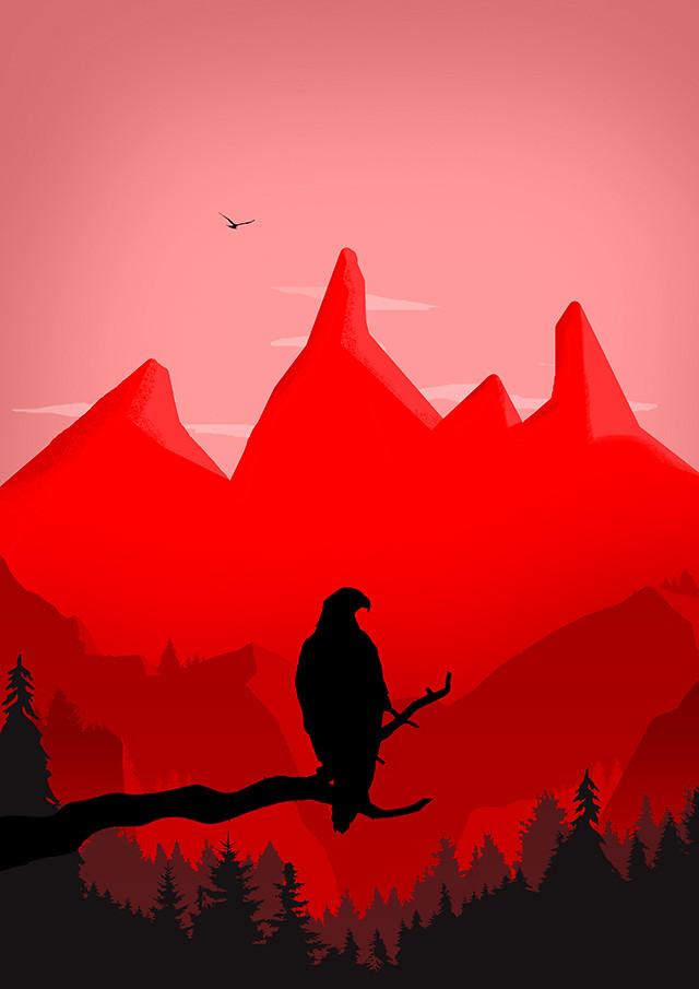 Eagle silhouette design