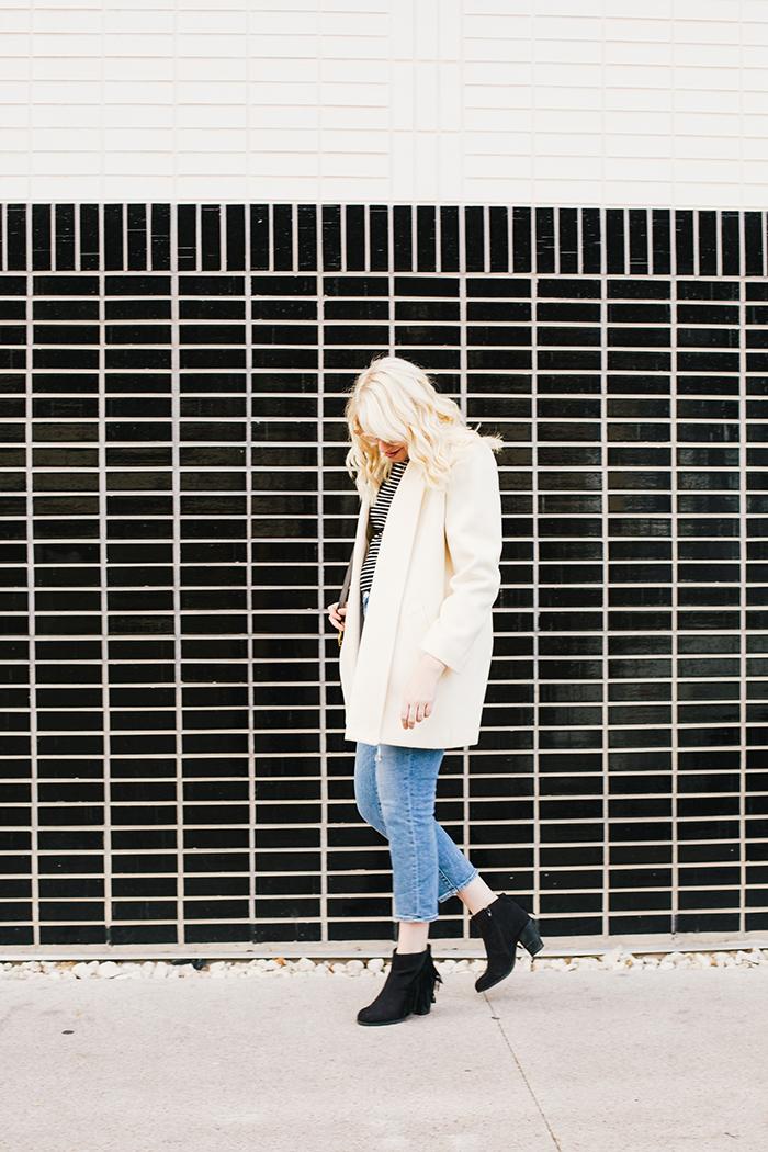 austin fashion blogger vintage white coat4