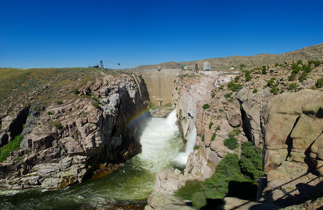 Fremont Canyon, North Platte River below Pathfinder Reservoir and Dam, Wyoming, July 13, 2010