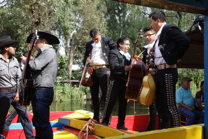 A day trip to the canal network in Mexico City's south can be quite nice. It's pretty aggressively touristy, and the boat trip operators put on quite a hustle, but this *mariachi* band made it worth the trip.