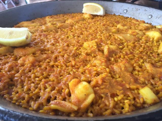 Paella en La Pepica