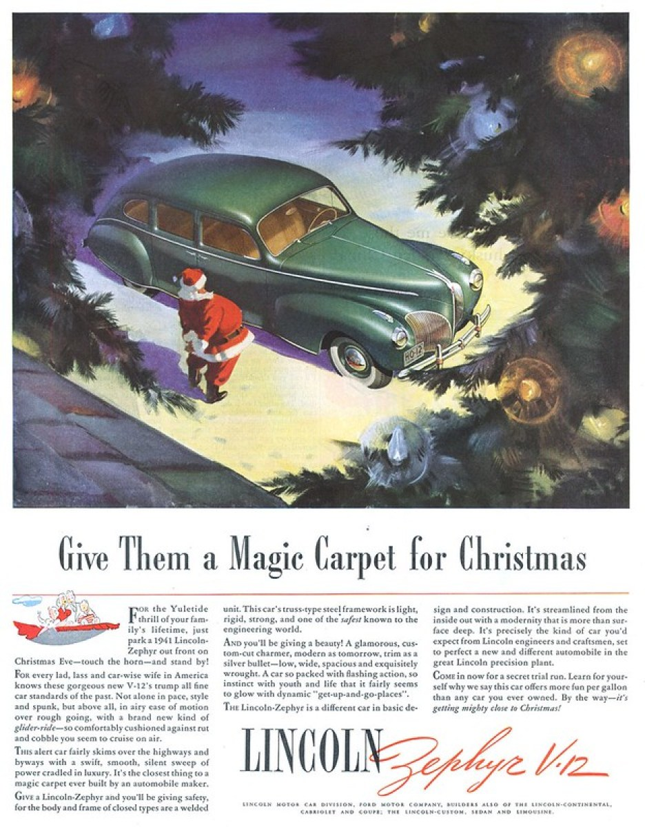 1941 Lincoln-Zephyr V-12 - published in The Saturday Evening Post - December 14, 1940