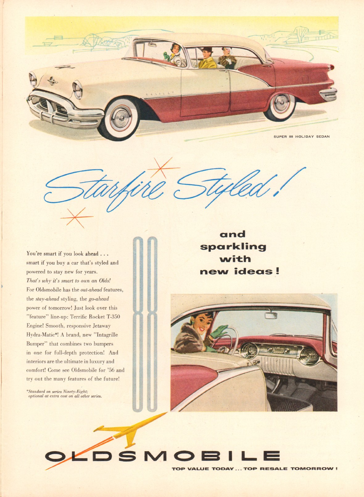 1956 Oldsmobile Super 88 Holiday Sedan - published in Time - April 2, 1956