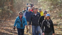 Photo of hikers, including Secretary Mark Belton