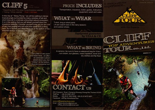 Brochure Cliff Top Adventures Chiang Mai Thailand 1