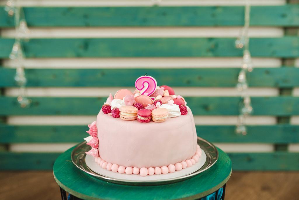 Pink Baby Girl Birthday Cake Two Year Old Creative Commons Bilder