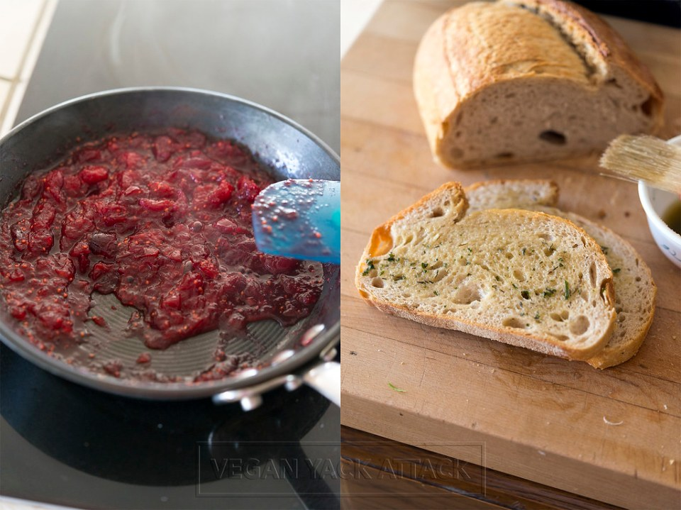 Cranberry Relish and Garlic Herb Buttered Bread