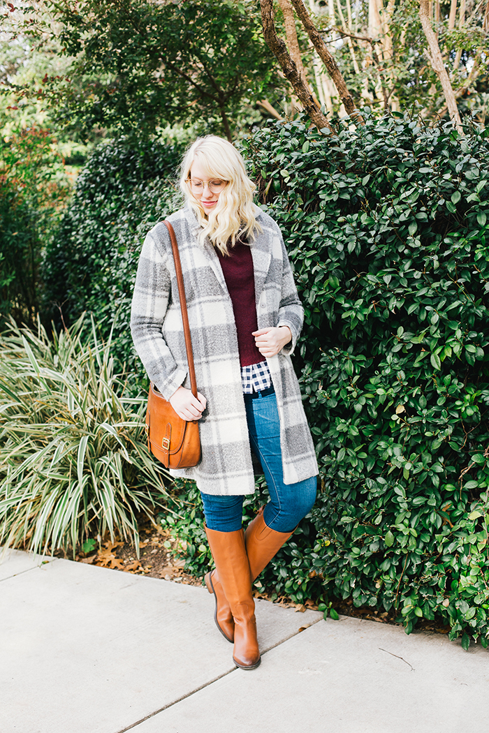 austin style blogger gingham winter outfit1